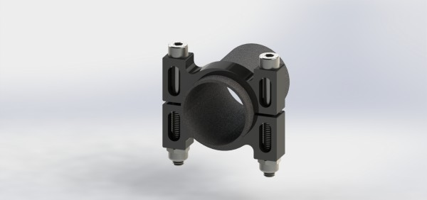 Rohrschelle Aluminium Black
